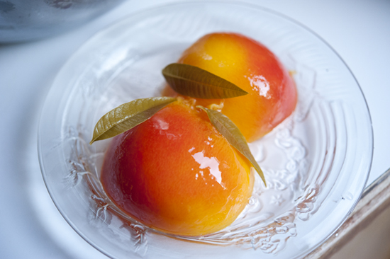 After Surgery Nutrition: Poached Peaches