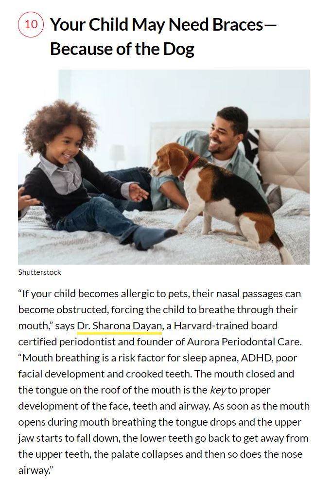 Dr. Dayan's Input On The Dangers Of Mouth Breathing In Children Published in Better Health Magazine